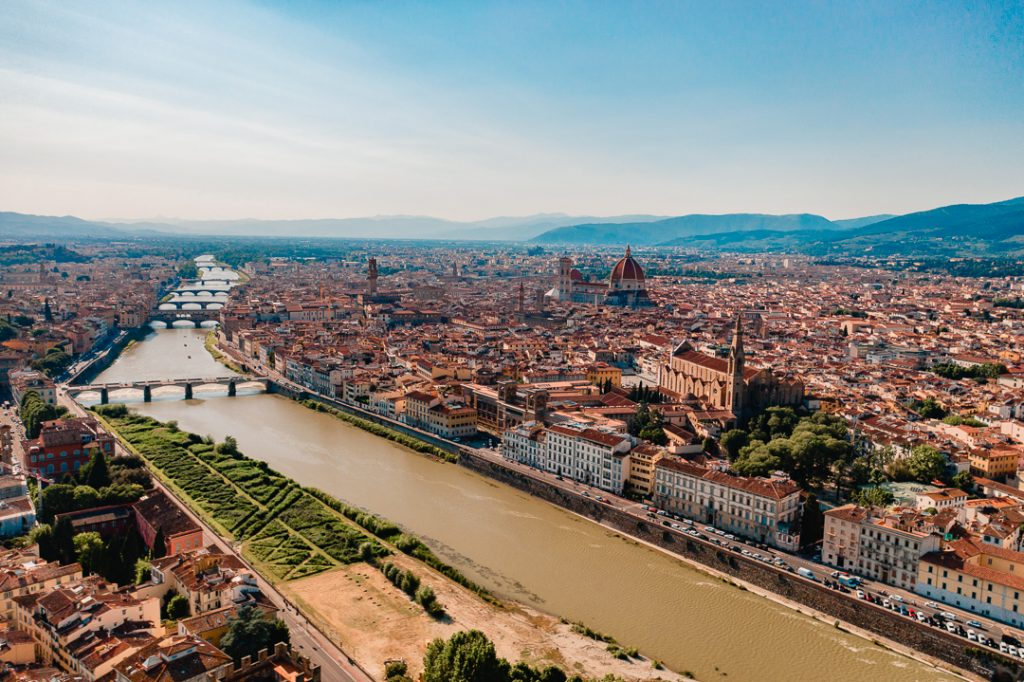 Florence, Italy Drone View - Contiki Mediterranean Quest